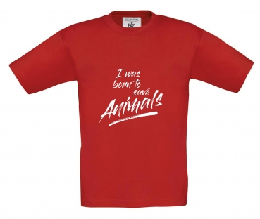 KIDS T-Shirt -I was born to save animals-